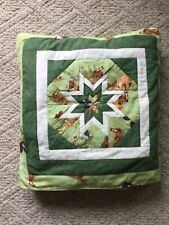Travel Throw Blanket Pillow Horse Print Homemade in Amish Country (Quillow)