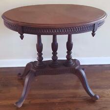 Gorgeous Antique 19th Century Oval Center Table - EXQUISITE CARVED DETAIL - VGC