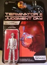 Terminator 2 T-1000 Metal Hole In Head ReAction Figure Moc Unpunched