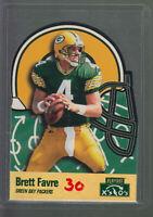1996 PLAYOFF X'S & O'S #1 BRETT FAVRE GREEN BAY PACKERS HOF