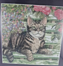 """Anchor Premier Collection Counted Cross Stitch Kit """"July"""" Cat on Bench, unopened"""