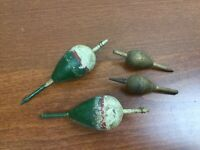Lot of 4 Vintage Original WOODEN 1940's FISHING BOBBERS Trout Bass Decorative