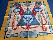 "authentic hermes silk scarf 90""×90 TIBET"