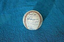 1992 Oakland Athletics team autographed baseball 26 signatures A.L. West Champs