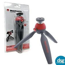 MANFROTTO PIXI MINI TRIPOD FOR COMPACT CAMERA SYSTEMS - GREY RED