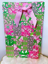 8fa4b17ccba2b5 Lilly Pulitzer Pink Green Vintage Butterfly Print Magnetic Message Boatd 12 X  18