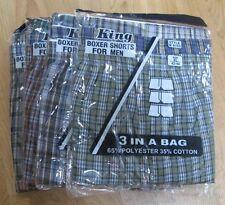 Men's Boxer Shorts XL12 pc lot 35 % Cotton 65 % Polyester Stripe different color