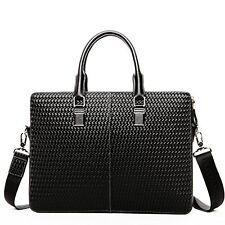 BOSTANTEN Leather Lawyers Briefcase Shoulder Laptop Business Bag for Men & Women