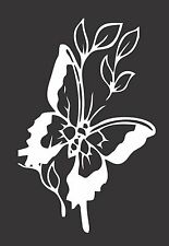 Flower Butterfly - Die Cut Vinyl Window Decal/Sticker for Car/Truck