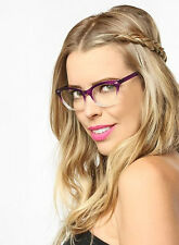 Cat Eye Women Eyeglasses Clear Lens Purple Glasses Vintage Fashion