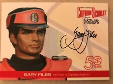 CAPTAIN SCARLET 50 YEARS: AUTOGRAPH CARD: GARY FILES GF4 - 2017 YEARSET