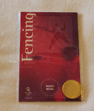 Fencing Sydney 2000 Olympic Games Shell Commemorative Medallion New