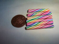 X4 Miniature Arco Iris dulces Bastones Dulces Candy Muñeca alimentos 6TH Escala
