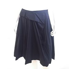 Auth MARNI Black Foldover Pleated Flare Short Skirt IT40 US 4 UK 8 VGUC