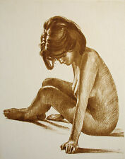 "Roger Hebbelinck ""Nu no. 4"" Nude #4 Hand Signed Vintage Etching Make An Offer!"