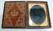 Beau PORTE-PHOTO Ancien Coffret XIXème siècle Cadre doré Plaque photo