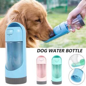 Pet Dog Cat Water Bottle Drinking Mug Cup Puppy Travel Outdoor Portable 300ml UK