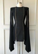 alex perry : daire swarovski crystals zip mini dress size: 6 new $1900