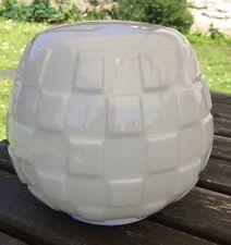 Art deco abat-jour vintage 1930 Milk Glass Ceiling Shade