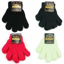 Stretch Handschuhe Kinder Magic Schwarz Blau Weiß Rot Neu