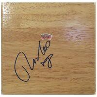 Radoslav Nesterovic Spurs Autograph Signed Basketball Floor Board Exact Proof