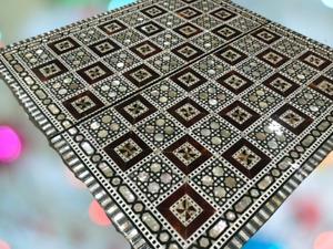 Handmade Egypt table Chess and the ancient Egyptian backgammon 2×1