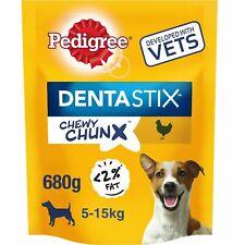 10 x 68g Pedigree Dentastix Chewy Chunx Mini Small Medium Dog Treats Chicken