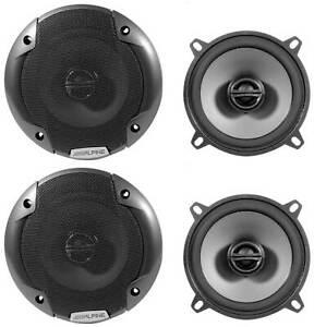 "(4) Alpine SPE-5000 5.25"" 400 Watt 2-Way Pair of Car Audio Speakers Type-E"