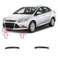 NEW FRONT BUMPER LOWER SPOILER BLACK PAIR SET FORD FOCUS 2011 - 2014