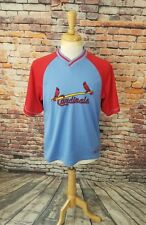 Majestic COOPERSTOWN Men's Blue ST LOUIS CARDINALS Baseball STITCHED Jersey M