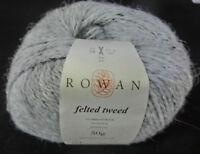 (17 €/100 g): 50 g Rowan FELTED TWEED, Fb. 197 Alabaster - grau, Lot 10614 #3572