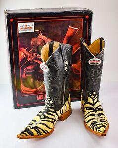 Men's Los Altos Stingray Tiger Cowboy Boots US 9.5 EE EU 42-43 - RM7