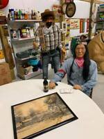 Vintage Amusement Park Display Animatronic Moving Cowboy GAS OIL SODA COLA