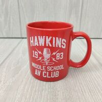 Official Stranger Things Hawkins Middle School AV Club Coffee Mug / Cup Red