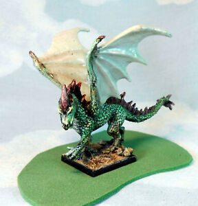 Dragon Green  #2a Reaper rpg role-playing game Monster painted by JohnnyJukey