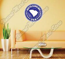 "South Carolina State Map USA Grunge Stamp Wall Sticker Room Interior Decor 22"""