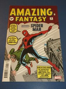 Amazing Fantasy #15 Facsimile Reprint 1st Spider-man NM Gem Wow