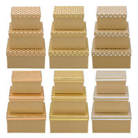 Rectangular Kraft Boxes - Stripes or Spots - Wedding Decoration gift Stacking