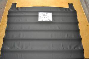 1967 67 CHEVROLET CAPRICE 2 DOOR HARDTOP BLACK NON PERFORATED HEADLINER USA MADE