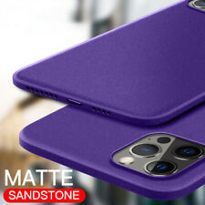 For iPhone 12 Pro Max Mini 11 XS XR X 8 7 6 Matte Thin Soft Sandstone Case Cover