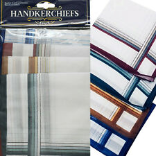 PACK OF 4 MENS MAN HANKERCHIEFS DESIGN POLYESTER/ COTTON NAPKIN Square