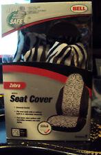 Bell Brand Black White Zebra Universal Bucket Seat Cover 56722-8 One in Box