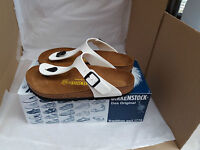 *New* Birkenstock Gizeh White Thong Sandals UK Size 4.5 EU 37