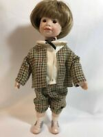 "Lauren Welker 11"" Porcelain Boy Doll with Tweed Outfit and Saddle Shoes"