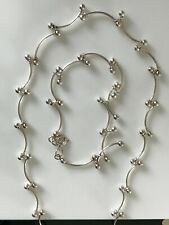 "925 Silver 16"" Ball Chain & 8"" Bracelet Hand Made (2)"