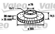 1x VALEO Disco de freno delantero 187154