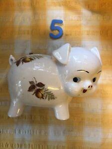 Vintage Large Ceramic Piggy Bank