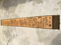 China old painting calligraphy long scroll painting Hundred beauty  scroll