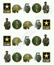 Army Nail art water decals Free shipping