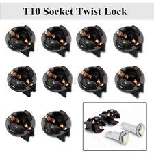 10 Pcs T10 Socket Twist Lock Wedge Instrument Panel Dash Light Bulb Base 192 168